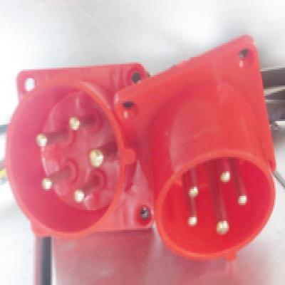 电动吊篮配件五芯插座(航空插)